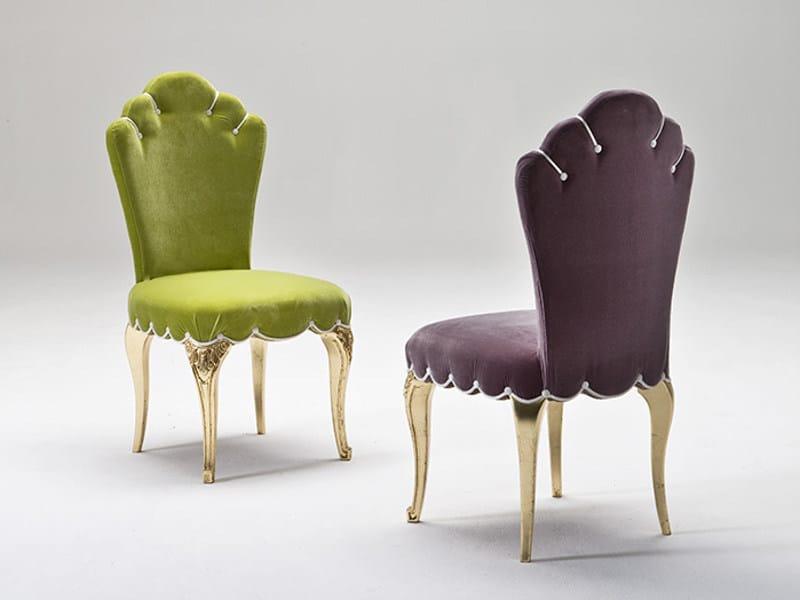 Sedia imbottita in tessuto DORIA - Rozzoni Mobili d'Arte