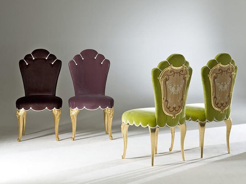 Sedia imbottita in tessuto DORIA | Sedia imbottita - Rozzoni Mobili d'Arte