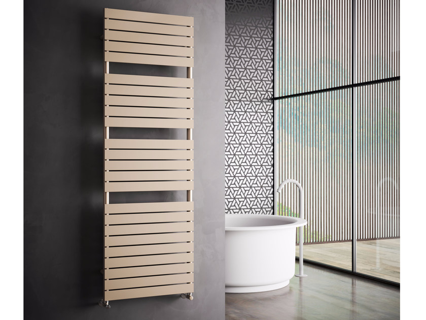 Hot-water vertical wall-mounted carbon steel towel warmer DORY | Hot-water towel warmer - CORDIVARI