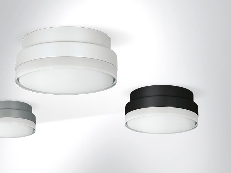 LED metal ceiling lamp DOT by Arcluce