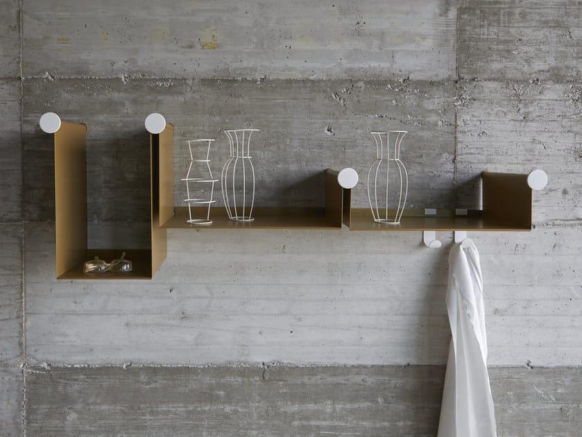 Powder coated steel wall shelf DOTLINE - iCarraro italian makers