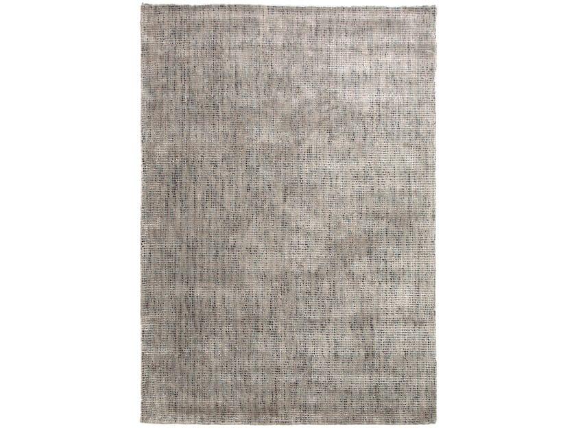 Handmade rectangular rug DOTS - Warli