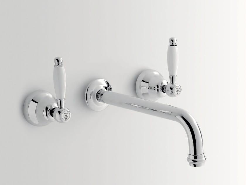 3 hole wall-mounted washbasin tap DOVER | 3 hole washbasin tap - BATH&BATH