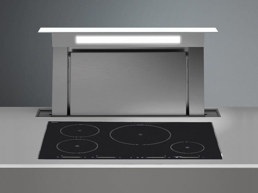 Cappa da piano estraibile in acciaio inox down draft falmec - Motori per cappe da cucina ...