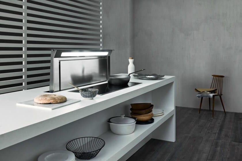 cappa da piano estraibile in acciaio inox down draft falmec. Black Bedroom Furniture Sets. Home Design Ideas