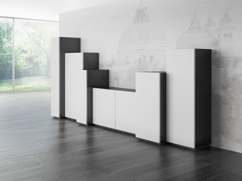 Laminate highboard with doors DR•ØNE | Highboard with doors - De Rosso