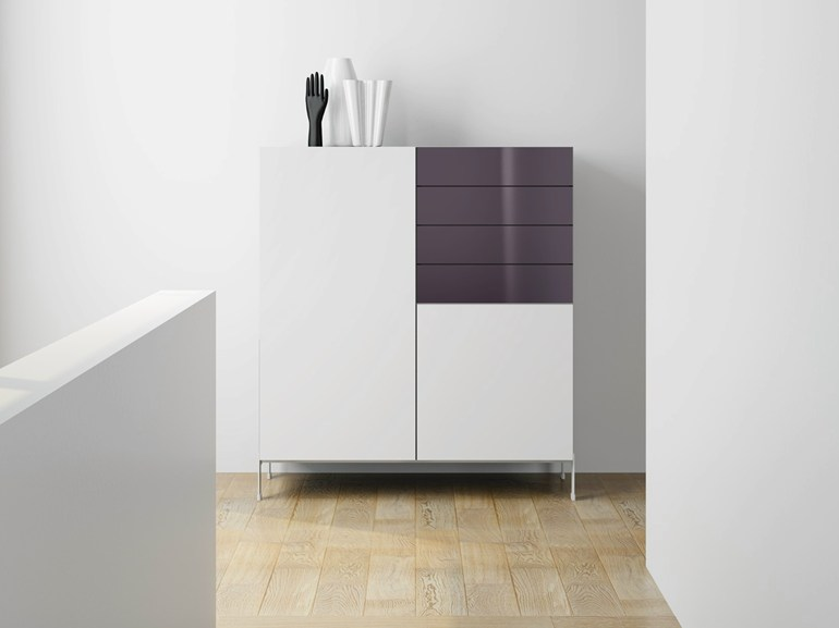 Laminate highboard with drawers DR•ØNE | Highboard with drawers - De Rosso