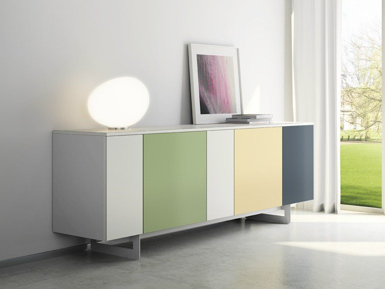 Laminate sideboard with doors DR•ØNE | Sideboard with doors - De Rosso