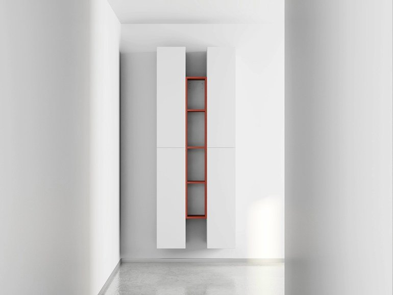 Wall-mounted laminate bookcase DR•ØNE | Wall-mounted bookcase - De Rosso