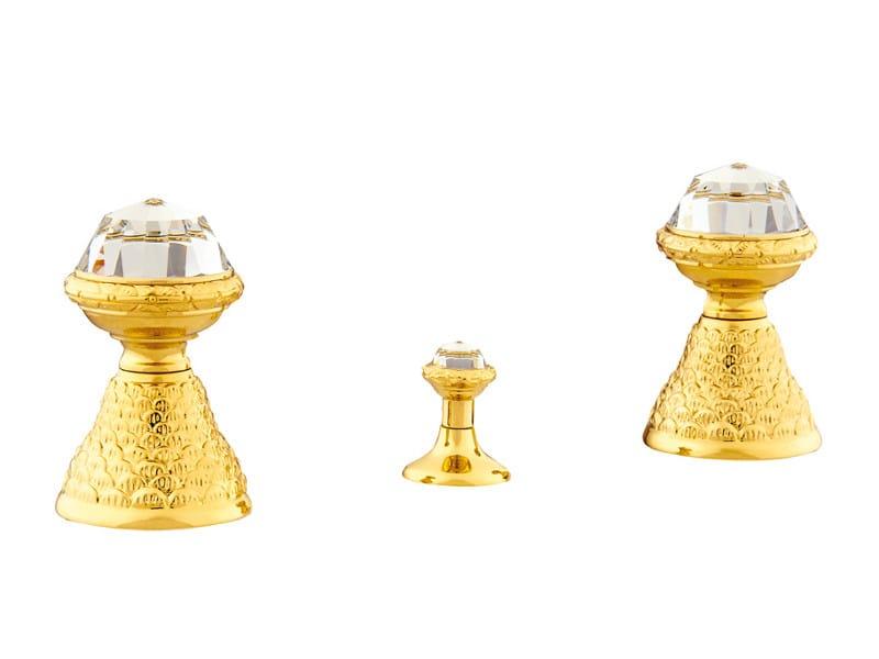 3 hole bidet tap with Swarovski® crystals DRAGON | 3 hole bidet tap - Bronces Mestre