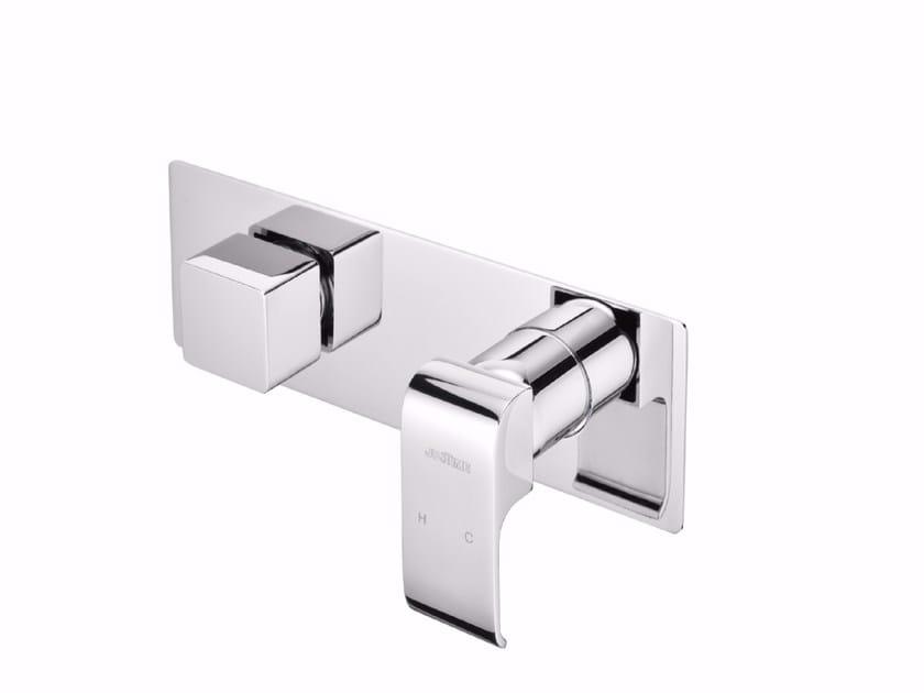 Miscelatore per doccia monocomando in ottone cromato con deviatore con piastra DRAGON | Miscelatore per doccia con deviatore by JUSTIME