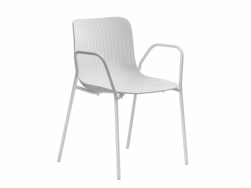 Stackable chair with armrests DRAGONFLY S0024B by Segis