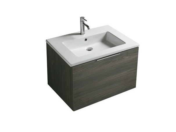 Wall-mounted vanity unit with drawers DREAM - 7241 - GALASSIA