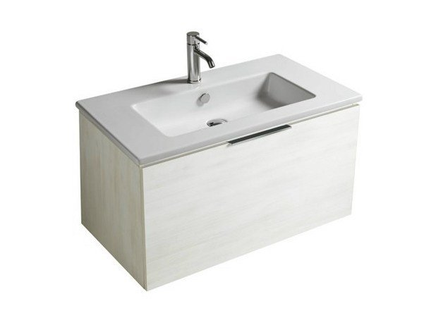 Lacquered wall-mounted vanity unit with drawers DREAM - 7242 - GALASSIA
