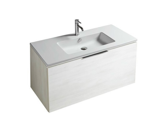 Lacquered wall-mounted vanity unit with drawers DREAM - 7244 - GALASSIA