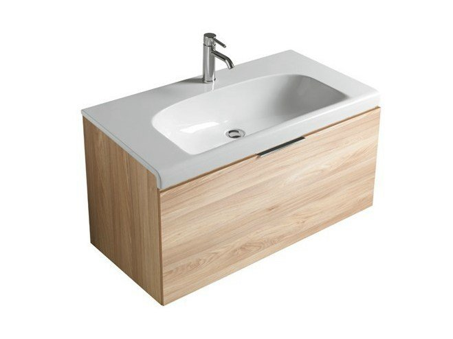 Wall-mounted vanity unit with drawers DREAM - 7320 - GALASSIA