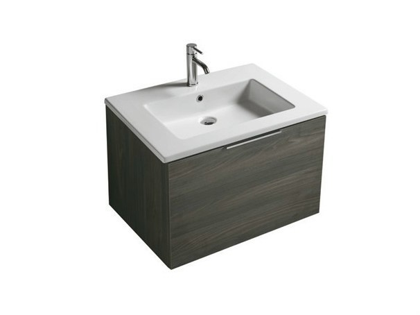 Wall-mounted vanity unit with drawers DREAM - 7321 - GALASSIA