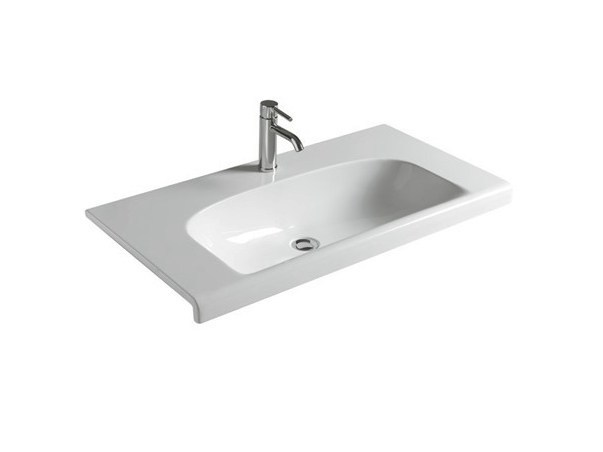 Rectangular ceramic washbasin DREAM - 91 CM - GALASSIA