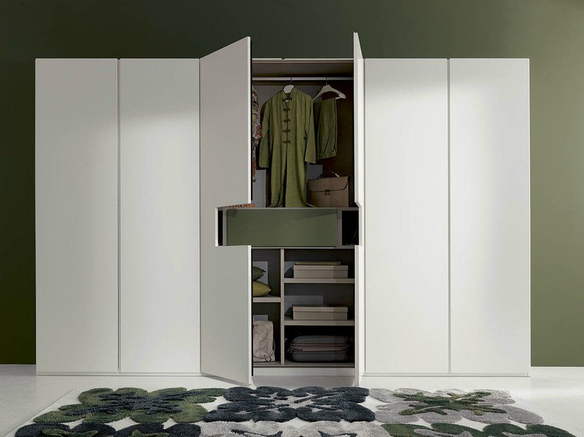 Lacquered wardrobe with built-in TV DREAM by Fimar