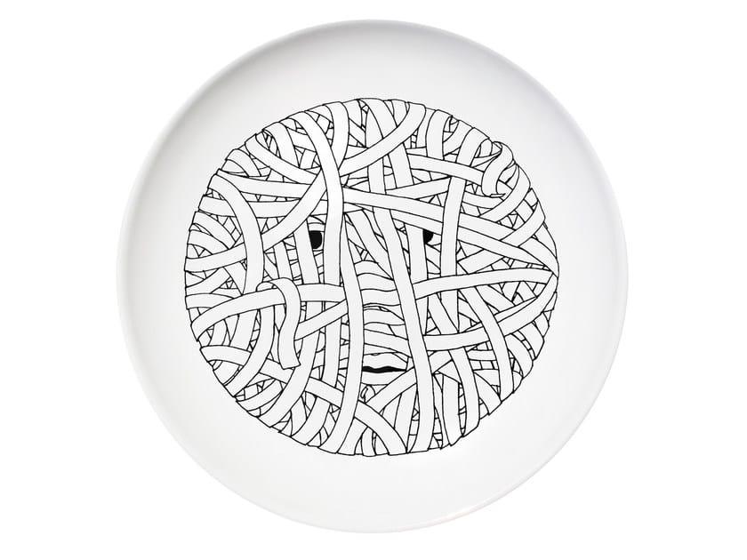 Ceramic dinner plate DRESS by Kiasmo