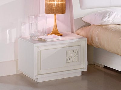 Lacquered solid wood bedside table PRIMA CLASSE | Bedside table - Arvestyle