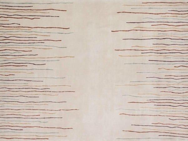 Handmade rectangular rug DRIBBLES - Deirdre Dyson