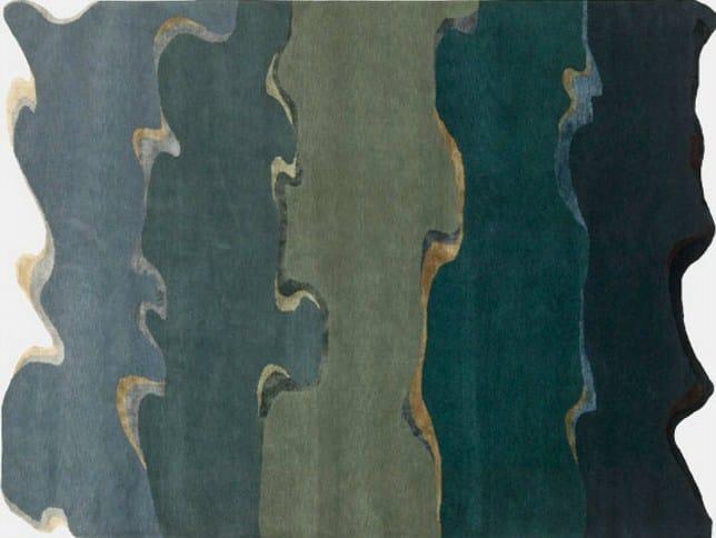 Handmade rectangular rug DRIFT by Deirdre Dyson