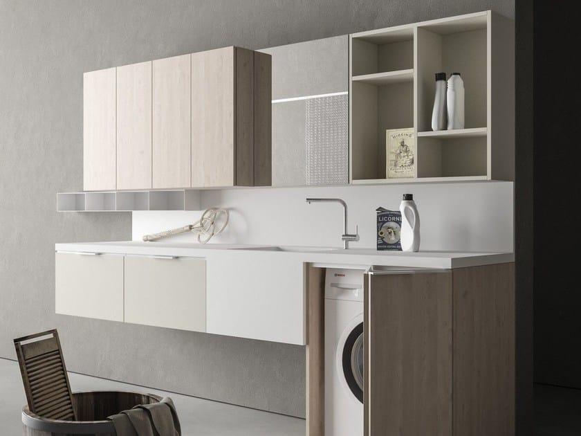 Mobile lavanderia componibile drop composizione d05 novello - Hauswirtschaftsraum mobel ...
