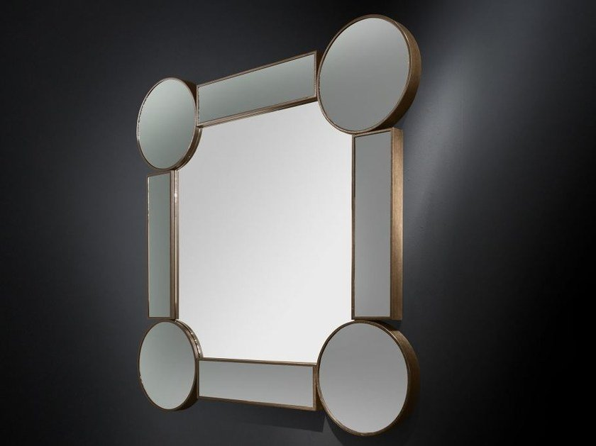 Wall-mounted framed hall mirror DRUMMOND | Square mirror by VGnewtrend