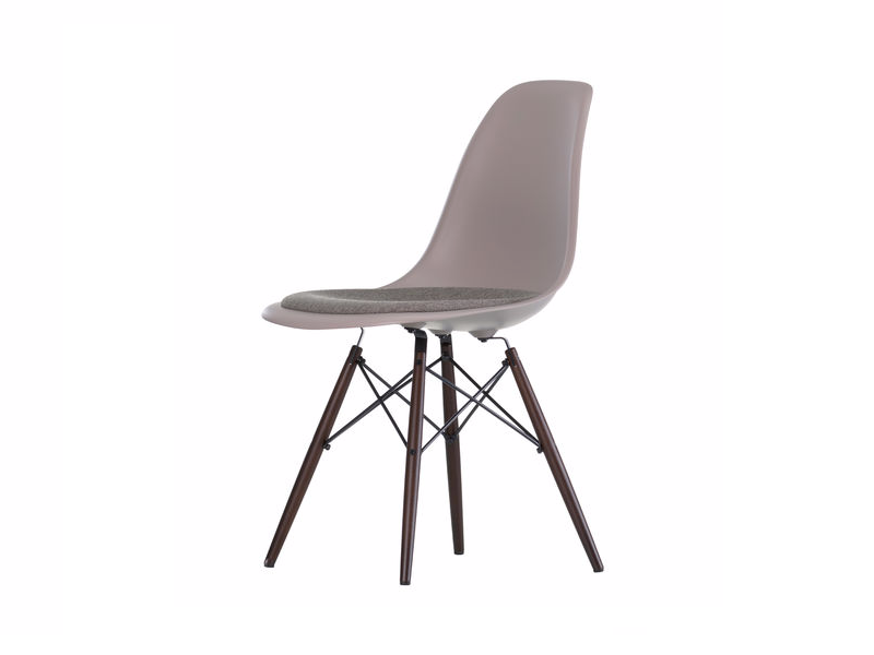 Polypropylene chair with integrated cushion DSW | Chair with integrated cushion - Vitra