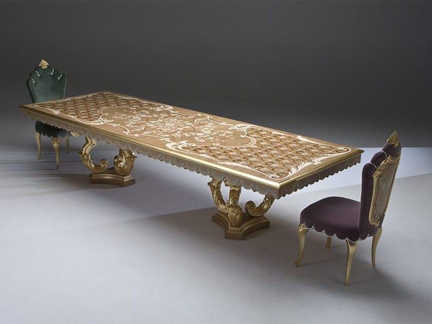 Rectangular wooden living room table DUCALE - Rozzoni Mobili d'Arte