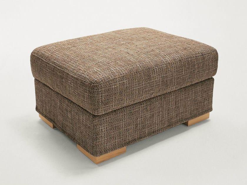 Upholstered fabric pouf DUKE | Pouf - Milano Bedding