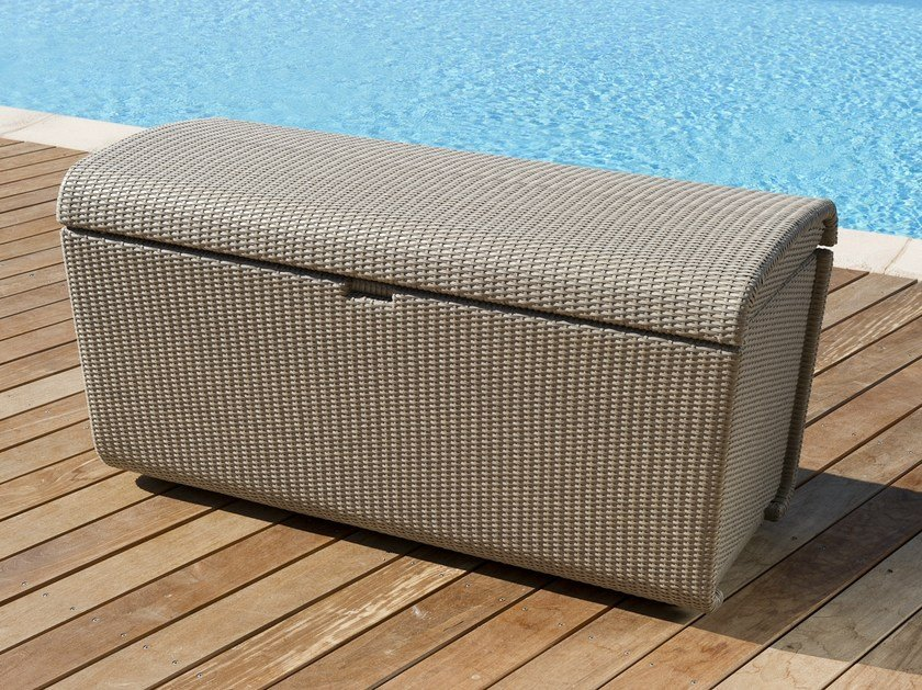 Wicker garden storage box DUNA | Storage chest - Les jardins