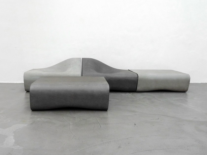Cement outdoor chair DUNE | Outdoor chair - SWISSPEARL Italia
