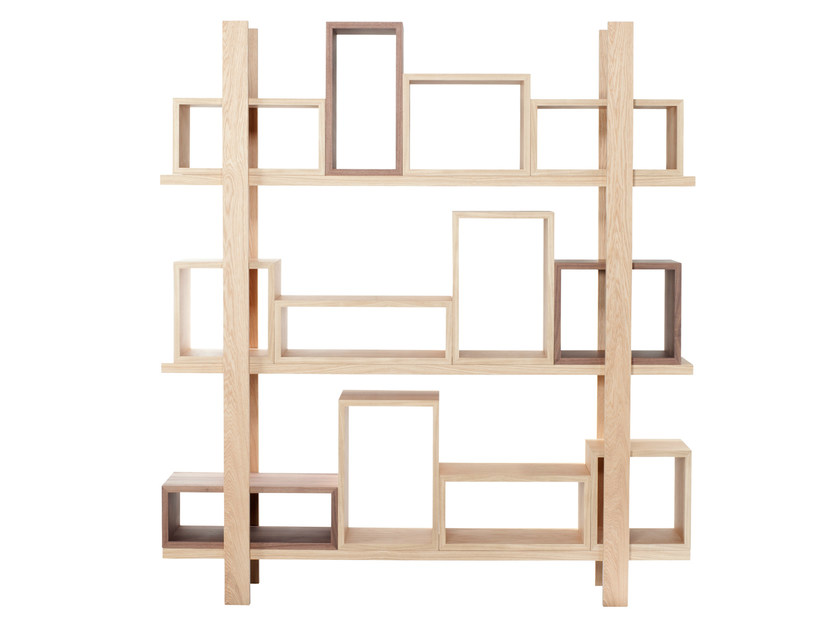 Open double-sided sectional bookcase DURAS | Double-sided bookcase - AZEA