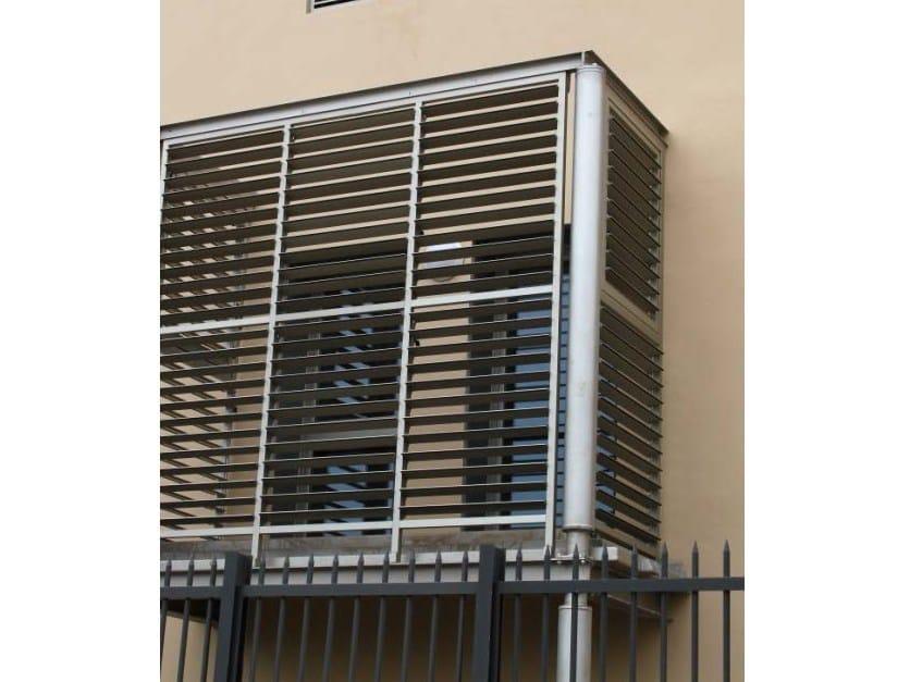 Adjustable extruded aluminium solar shading DUTEC 110S | Solar shading by INDÚSTRIAS DURMI
