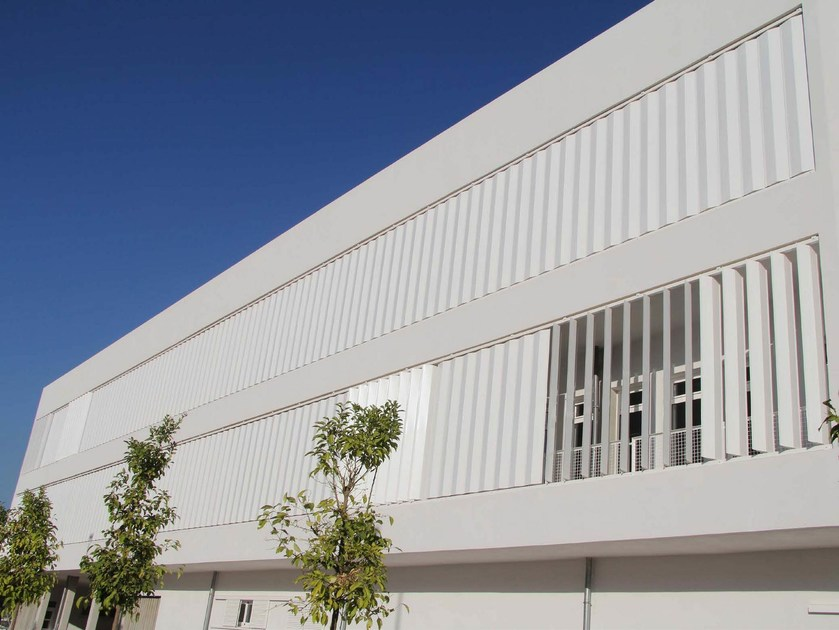 Adjustable galvanized steel solar shading DUTEC 400H - INDÚSTRIAS DURMI