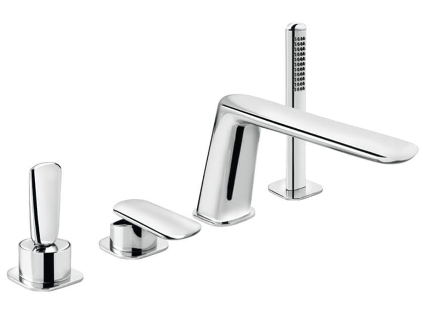 4 hole bathtub set with hand shower DYNAMICA JK 89 - 8948562 - Fir Italia
