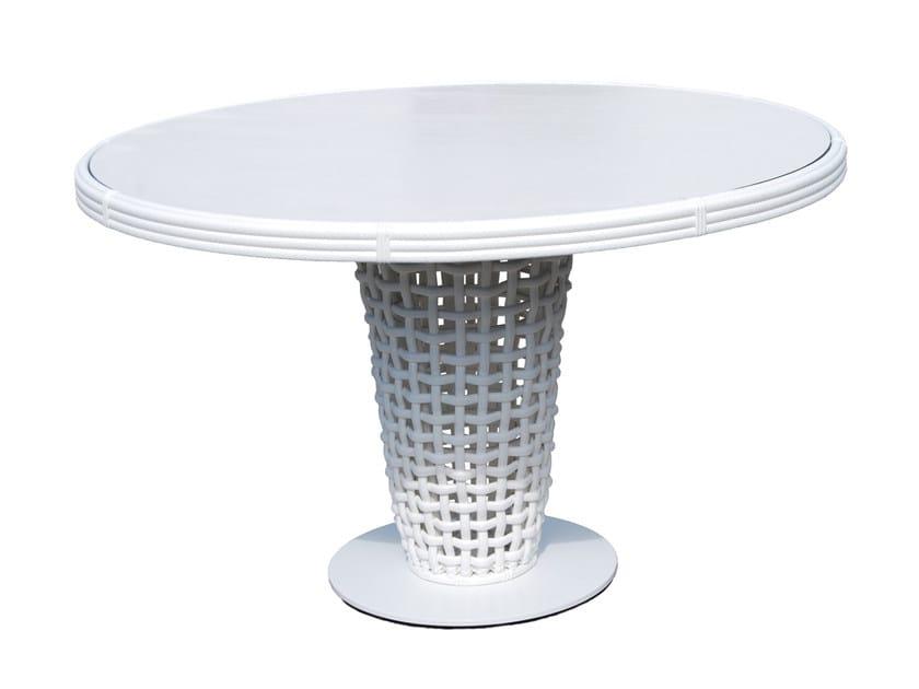 Tavolo da giardino rotondo in polipropilene DYNASTY 22461 - SKYLINE design