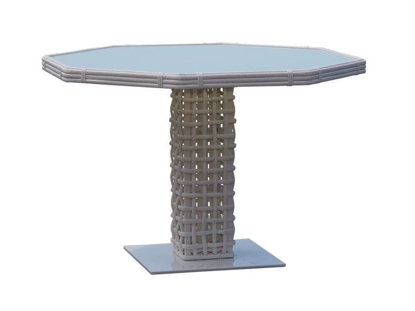 Tavolo da giardino in plastica in stile moderno per contract DYNASTY 22463 - SKYLINE design