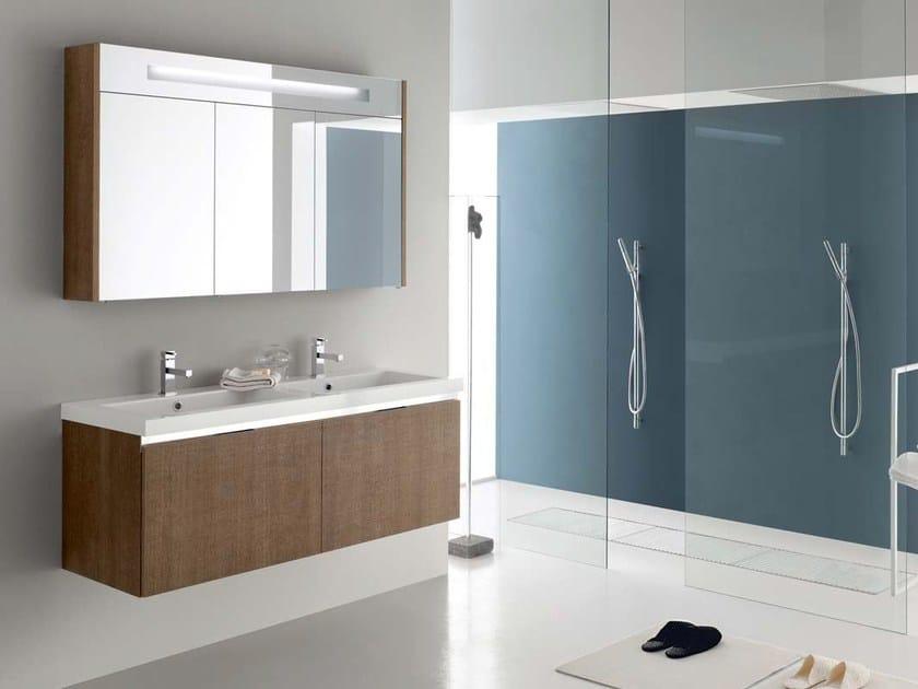 Single oak vanity unit E.GÒ - COMPOSITION 10 by Arcom