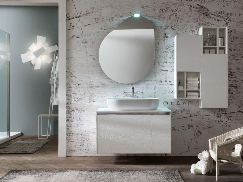 Wooden bathroom cabinet / vanity unit E.GÒ - COMPOSITION 41 by Arcom