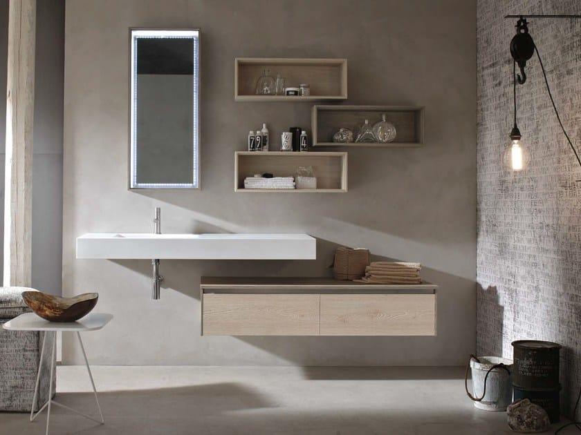 Washbasin countertop / bathroom cabinet E.GÒ - COMPOSITION 42 - Arcom
