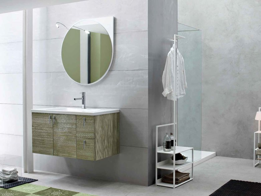 Single wooden vanity unit E.LY - COMPOSITION 42 - Arcom