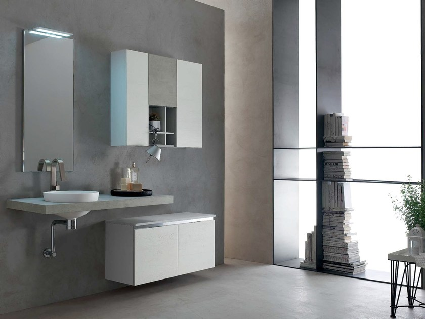 Wooden washbasin countertop / bathroom cabinet E.GÒ - COMPOSITION 26 - Arcom