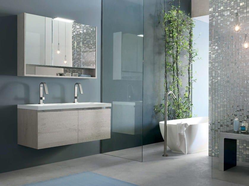 Wooden bathroom cabinet / vanity unit E.GÒ - COMPOSITION 27 by Arcom