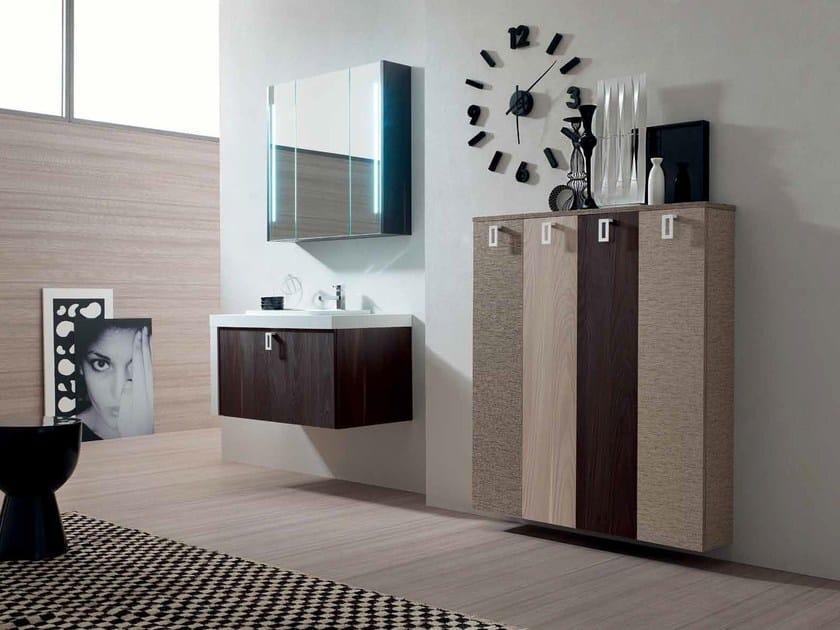 Sistema bagno componibile E.LY - COMPOSIZIONE 18 - Arcom