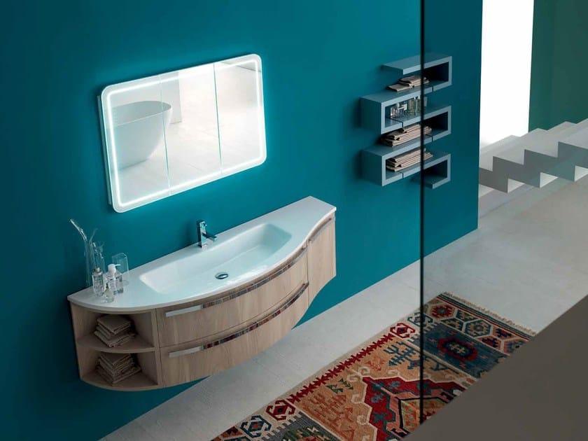 Sistema bagno componibile E.LY - COMPOSIZIONE 20 - Arcom