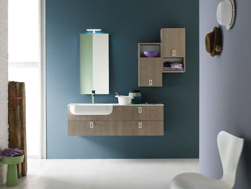 Oak bathroom cabinet / vanity unit E.LY - COMPOSITION 33 by Arcom