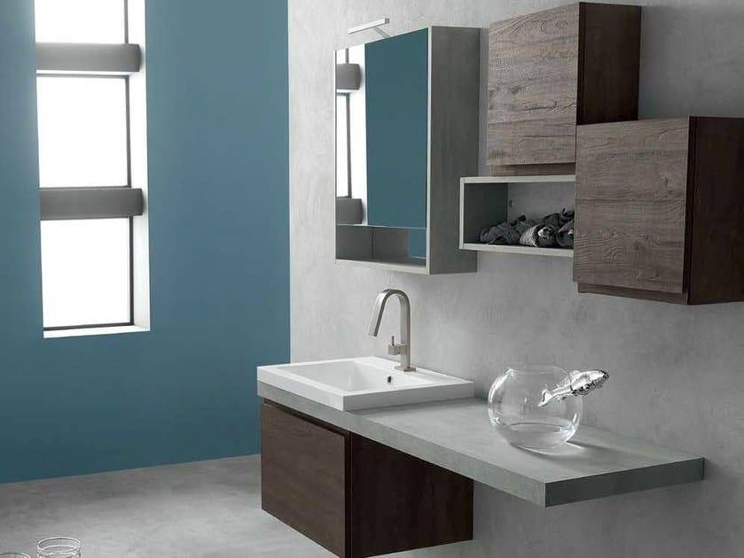 Sistema bagno componibile E.LY - COMPOSIZIONE 38 - Arcom